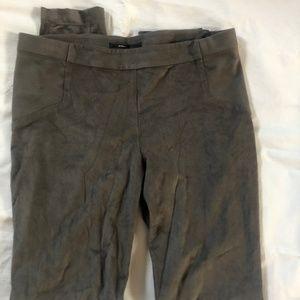 BCBG gray suede dress leggings size medium